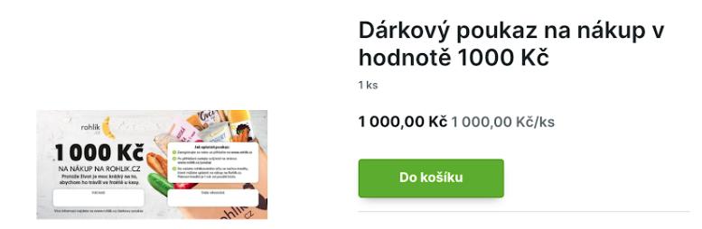 Nákup poukazu na Rohlik.cz