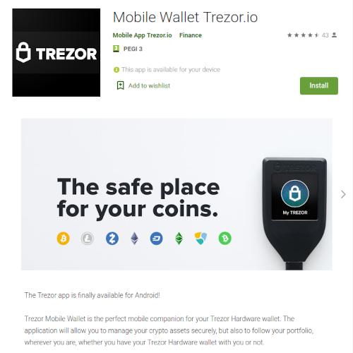 Google Play Store: Trezor app